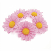 GIZZY® Ladies Girls Pink Daisy Silky Flower Hair Elastic Bun Finisher.