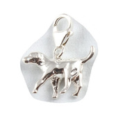 Sterling Silver Labrador Dog Clip On Charm - With 11mm Clasp