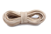 Round Leather Cord, 10 Metre Length, 3.0 millimetre Natural