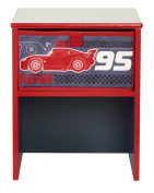 Worlds Apart 864746 Modern Bedside Table Disney Cars Design MDF 36 x 29.5 x 27.5 cm Black/Red