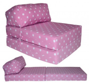 JAZZ CHAIRBED - PINK SPOTS Deluxe Single Chair Bed