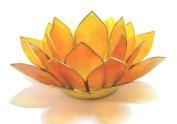 Beautiful Large Orange 2nd Chakra Lotus Flower Tea Light Candle Holder.
