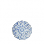 Blossom Ceramic Door Knob Blue