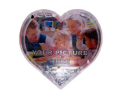 Add your own image heart photo snow globe.
