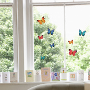36 Beautiful Coloured Butterfly Static Cling Window Stickers - Home Decorations by Stickers4