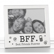 Best Friends Forever BFF Photo Picture Frame Satin Silver Finish Lovely Gift Idea