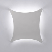 Modern White Ceramic 4 Way Curved Square Flush Wall Wash Lamp Light