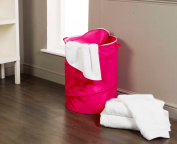 H and L Russel Pop Up Laundry Hamper, Pink