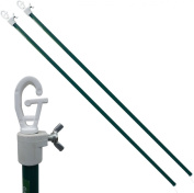 2x 2.4M Galvanised Heavy Duty Washing Line Prop Telescopic Clothing Laundry Home
