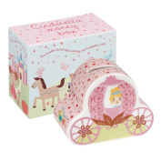 Little Rhymes 9.5 x 5.5 cm Fine China Cinderella Carriage Shaped Money Box, Multi-Colour