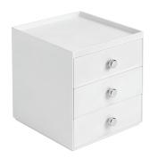 InterDesign 3-Drawer Stacking Organiser, White