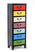Geko 38 x 26 x 110 cm Rainbow Tall Cabinet with 7 Drawers