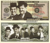 Novelty Dollar Laurel and Hardy Stan and Oliver Comedy Legends Million Dollar Bills x 4 New