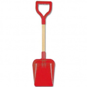 Square End Wooden Handle Shaft Spade 60cm - Red
