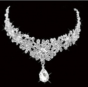Type61 Lady Rhinestone Flower Wedding Bridal Head Wear Hair Band Headdress Chain Jewellery