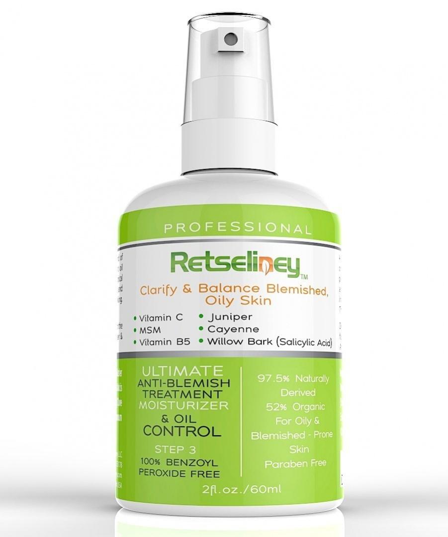 Retseliney Best Acne Treatment Moisturiser Cream & Oil Control + 2%  Salicylic Acid & Vitamin C, for Teens, Adult & Hormonal Acne, Clear  Blemishes &