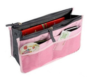Jackie Pink Handbag Pouch Bag in Bag Organiser Insert Organiser Tidy Travel Cosmetic Pocket