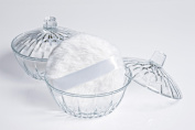 WHITE Powder Puff and 13cm Diameter Powder Dish