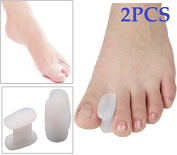 Cerkos Gel Toe Separators Straightener Bunion Toe Protector Which Separates and Protects Dislocated and Overlapping Toes or Those That Rub Against Each Other, Reduce the Risk of Fungal Infections, but It Minimises Friction That Can Lead to Painful Inju ..