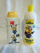 (2 Pc) Despicable Me Minion Bath Set Bubble Bath & Shower Gel