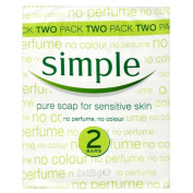 Simple Pure Soap for Sensitive Skin (2x125g) - Pack of 6