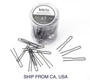 300pcs/lot Plated Thin U Shape Hair Bobby Pin Black Metal Clips Small