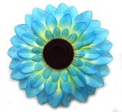 1 Pc of 14cm Blue Sunflower Hair Clip - Sunflower Hair Accessories, Flower Hair Clips For Women - Flower Girl Hair Accessories For Short Hair And Hair Accessories For Long Hair