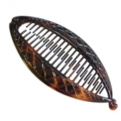 Parcelona French Crisscross Large Cellulose Tortoise Shell Banana Hair Clip