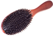 Juniper wooden rubber cushion pad detangling and anti static, daily use, bristle boar and fibre nylon pin, Ionic hair brush