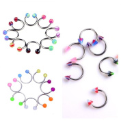 Oasis Plus 60 Pcs Wholesale Lot Mix Colours Nose Rings Studs Hoop Body Piercing Jewellery