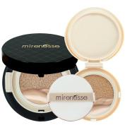 """Mirenesse Cosmetics"" 10 Collagen Cushion Foundation Compact Airbrush Liquid Powder SPF25 PA + Free Refill (15g15ml) - Shade 23. Mocha - AUTHENTIC"