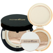"""Mirenesse Cosmetics"" 10 Collagen Cushion Foundation Compact Airbrush Liquid Powder SPF25 PA + Free Refill (15g15ml) - Shade 21. Vienna - AUTHENTIC"