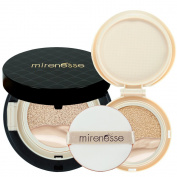 """Mirenesse Cosmetics"" 10 Collagen Cushion Foundation Compact Airbrush Liquid Powder SPF25 PA + Free Refill (15g15ml) - Shade 13. Vanilla - AUTHENTIC"