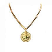 Lookatool Golden Chunky Chain Beauty Head Choker Necklace