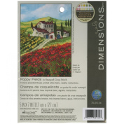 Dimensions Needlecrafts Stamped Cross Stitch, Poppy Fields