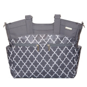 JJ Cole Camber Nappy Bag, Stone Arbour Multi-Coloured
