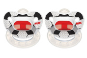 NUK 2 Count Sports Orthodontic Pacifier, Size 2, Soccer 2