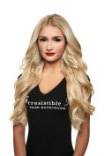 IRRESISTIBLE ME - Clip in Hair Extensions Platinum Blonde (Colour #613) - 100% Natural Remy (Remi) Human Real Hair - Straight Silky Touch - Clips Pieces Full Head Set - Different Weight (Grammes) and Length (Inch)
