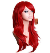 """eNilecor 28"""" 70cm Long Big Wavy Wig Cosplay Curly Wig Universal Women Heat Resistant Spiral Hair for Halloween, Christmas Cosplay Party Wig"""