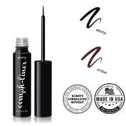 "CUEPIDO ""Oomph-liner"" HEALTHY WATERPROOF LIQUID EYELINER with Precise Eye Liner Brush (BLACK) ♥ Extra Long-lasting Long-wearing Power ♥ Rich Colour to Create Big Eyes ♥ Specially Formulated to be SAFE and HEALTHY â .."