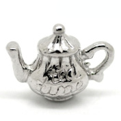 Packet of 3 x Antique Silver Tibetan 16mm Charms Pendants (Tea Pot) - (ZX05995) - Charming Beads