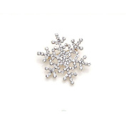 Fashion Brooch Pin Crystal Rhinestone Snowflake Theme