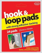 County Stationery Hook And Loop Pads With Strong Adhesive Backing