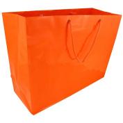 JAM Paper® - X-Large Orange Horizontal Glossy Gift Bag (16 x 15cm x 30cm ) - Bags Sold Individually