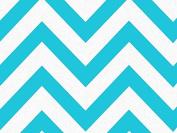 Turquoise Wide Chevron Tissue Paper 50cm X 80cm - 24 Sheet Pack