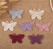 14 x Vintage Crochet Mixed Lace Butterfly Stick Sew On Fabric Motifs Patches