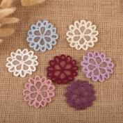 14 x Vintage Crochet Mixed Lace Daisy Flower Stick Sew On Fabric Motifs Patches