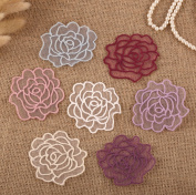 14 x Vintage Crochet Mixed Lace Flower Rose Stick Sew On Fabric Motifs Patches