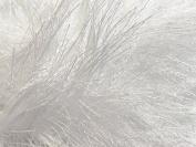 White Extra Long Eyelash Yarn Ice Luxurious Fun Fur 50gr 38yds