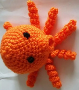 Hand-crocheted Octopus Orange Octopus Octopus Toy